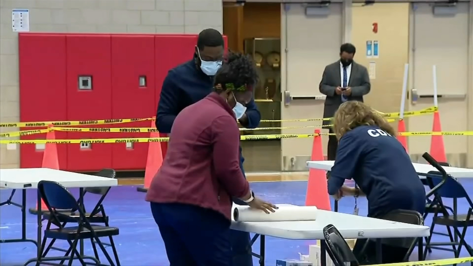 The COVID vaccine super-site has opened at Malcolm X College in Chicago for non-hospital healthcare workers