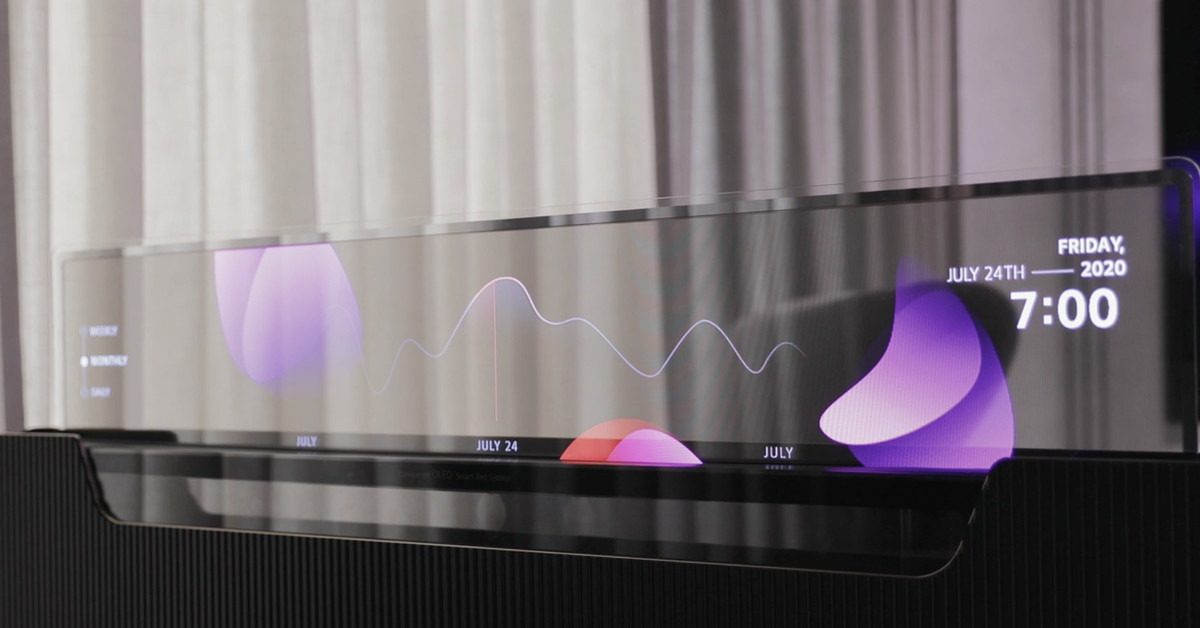 LG imagines a bed with an OLED TV that can be seen through the vision