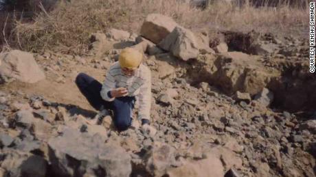 Kensho Shimada found a megalodon tooth outside Tokyo as a teenager.