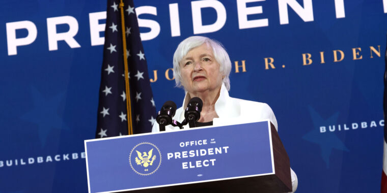 Treasury candidate Yellen is looking to limit cryptocurrency use