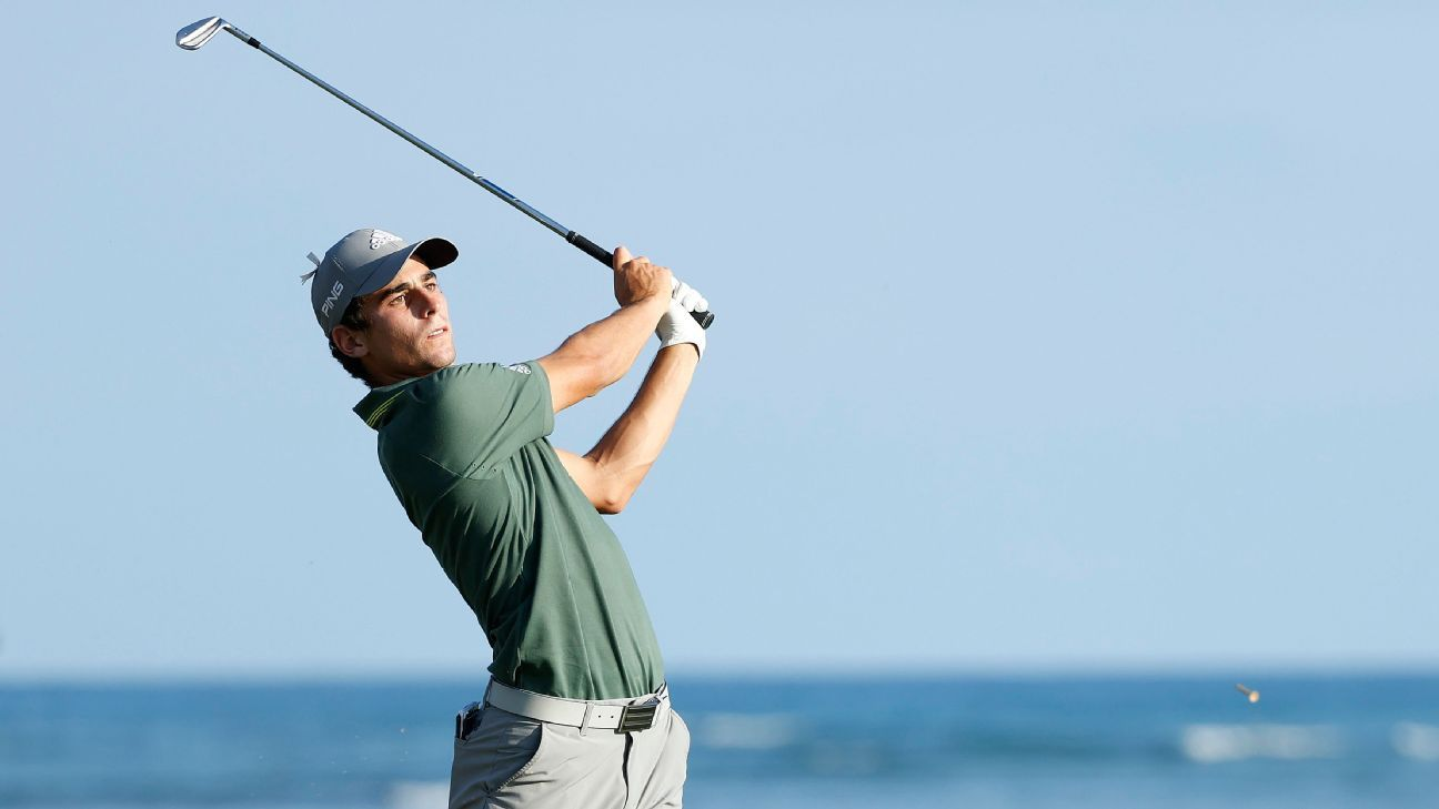 Joaquin Nieman ends with the Eagle and takes the lead in the Sony Open