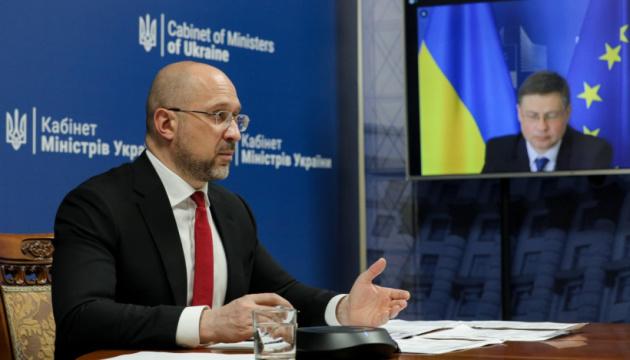 Шмігаль та Домбровськіс обговорюють економічну співпрацю між Україною та Європейським Союзом