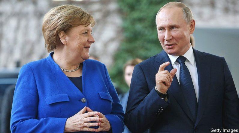Ангела Меркель розчаровано прощається з Володимиром Путіним